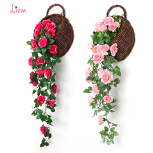 Silk Roses Artificial Flowers Preserved Home Decoration Faux Fausse or Wedding  Valentine Pink Party Decorations