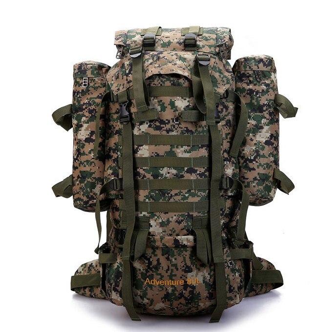 Prix pour 80L En Plein Air Militaire Tactique Camouflage Sac de Grande Capacité Hommes Femmes Camping Randonnée Alpinisme sac de Voyage Imperméable Sac À Dos