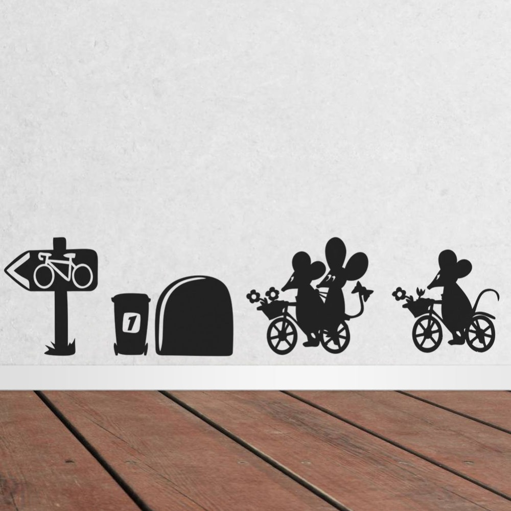 High Quality Cute Funny Cartoon Mouse Bicycle Mouse Hole