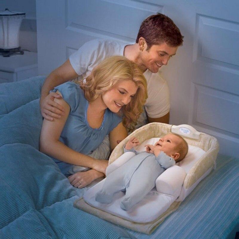 Портативный детские кроватки новорожденных Snuggle гнездо для безопасности кровать мальчик Обувь для девочек fold-состоянии Манеж Детский спал...