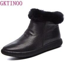 Botas de neve de couro genuíno botas femininas de alta qualidade botas de cabelo de coelho botas de inverno para mulher sapatos quentes mulher botas mujer