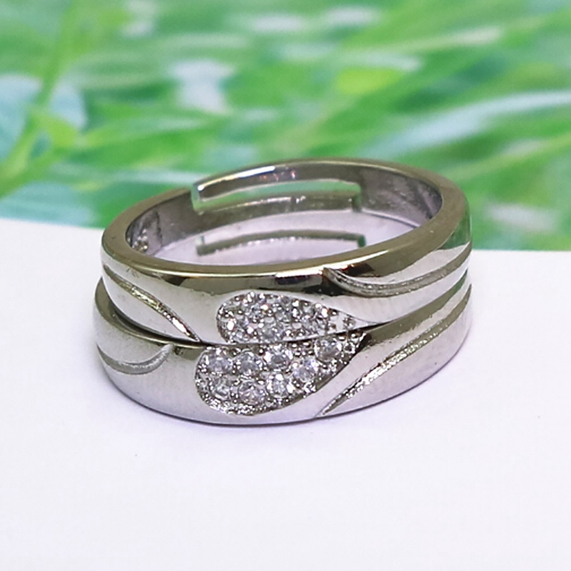 Silver Color Vintage Rhinestone Open Rings For Women Elements Crystal T Shop Ring Bague Femme Lover Wedding Ring