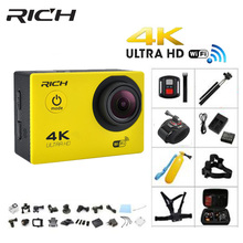RICH 4K action font b camera b font Ultra HD F60 1080p 60 fps WiFi font