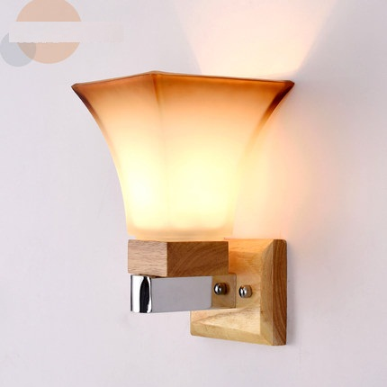 Creative Wooden Glass Wall Sconces Simple Modern LED Wall Light Fixtures For Bedroom Wall Lamp Home Lighting Lamparas simple modern wall sconces creative iron led wall light fixtures for home indoor lighting bedside wall lamp lamparas
