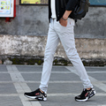 Casual Slim Fit Cotton Long Pants Mens 2017 New Arrival Fashion Brand Men Clothing  Sweatpants Free Shipping straight trousers