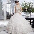 Decoración del diamante De lujo romántico cariño Vestido nupcial del Vestido Vestido De Novia De la boda vestidos De Novia vestidos 2105 vestidos