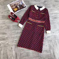 WB07197BA High quality New Fashion Women 2018 Autumn Dress Luxury Brand European Design party style dress