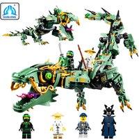 Movie Series Flying Mecha 592pcs Ninjagoes Dragon Building Blocks Compatible Legoed Ninjagoings Bricks Enlighten Children Toys