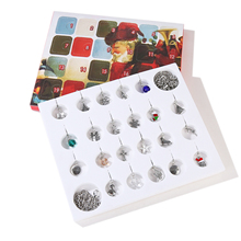 Jewellery Advent Charm Calendar with 22pcs assorted style charms and 2pcs chains