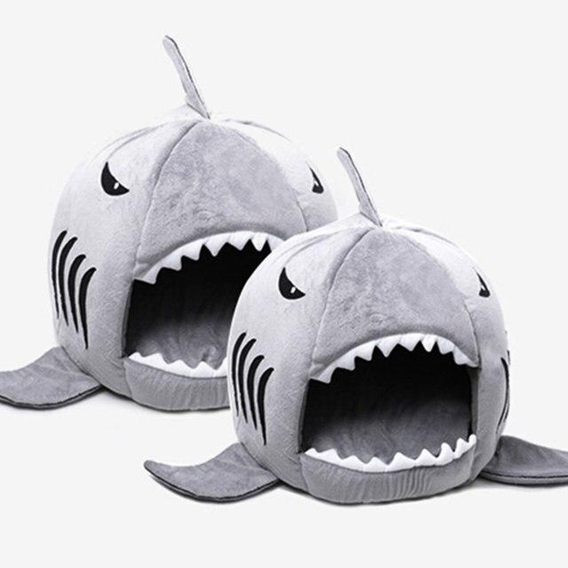 Forma di squalo Del Gatto del Cane Pet Letto Divano Letto Taglia S M Trasporto d