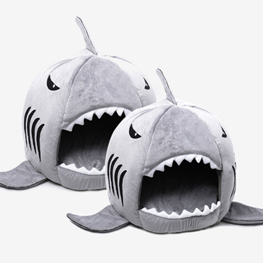 Shark Shape Dog Cat Pet Sleeping Sofa Bed Size S M  Drop Shipping
