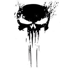 10 cm x 15 cm punisher crânio sangue vinil decalques do carro adesivos motocicletas decoração preto/prata C1-3140