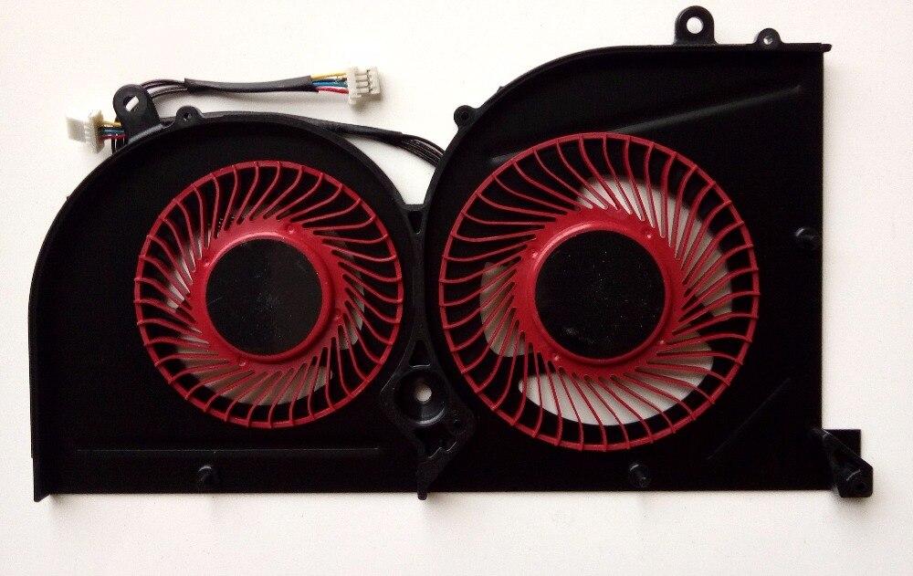 New for MSI GS63 GS63VR GS73 GS73VR MS-16K2 MS-17B series laptop GPU cooling fan BS5005HS-U2L1 new original cpu cooling fan for msi ge60 ms 16ga 16gc ms 16gh ms 16gf ms 16gd dc brushless laptop cooler radiators cooling fan