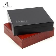 GRATIS SHIPPINGCOHIBA Kayu Cigar Humidor offce cigart box dengan Digital Hygrometer kayu cedar cerutu humidor