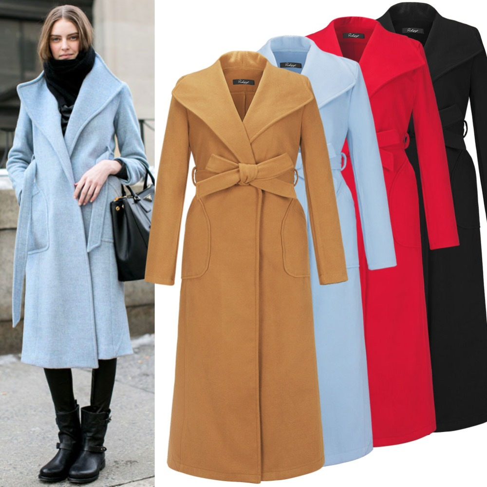 Womens Wool Trench Coat Photo Album - Reikian