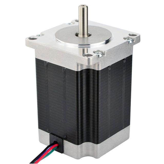 3PCS Nema 23 Stepper Motor 1.9Nm(269oz.in) 76mm 2.8A 4-lead Nema23 Step Motor 6.35mm Shaft DIY CNC Mill Router