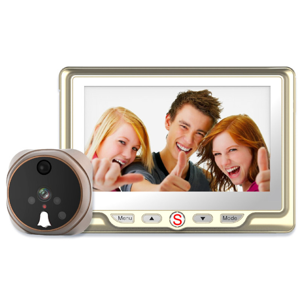 ФОТО 2016 NEW TS-506A Professional 4.3 Inch HD LCD Screen Convenient Home Security Digtial Peephole Camera Motion Detection Doorbell