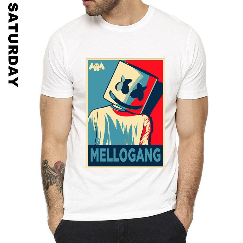 DJ Marshmello Design Funny T Shirt for Men and Women,Comfortable Breathable Graphic Premium T-Shirt Men's Streewear