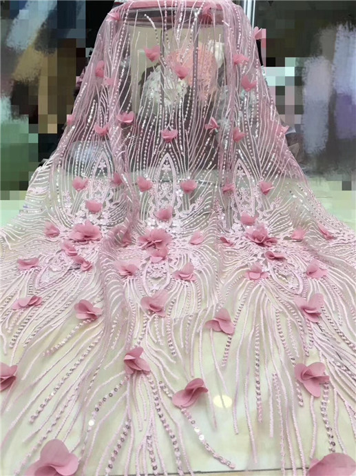 African Lace Fabric 2019 High Quality French beads Laces Fabrics High Quality Tulle Nigerian Lace Fabrics For Wedding Blue(FJ-4African Lace Fabric 2019 High Quality French beads Laces Fabrics High Quality Tulle Nigerian Lace Fabrics For Wedding Blue(FJ-4