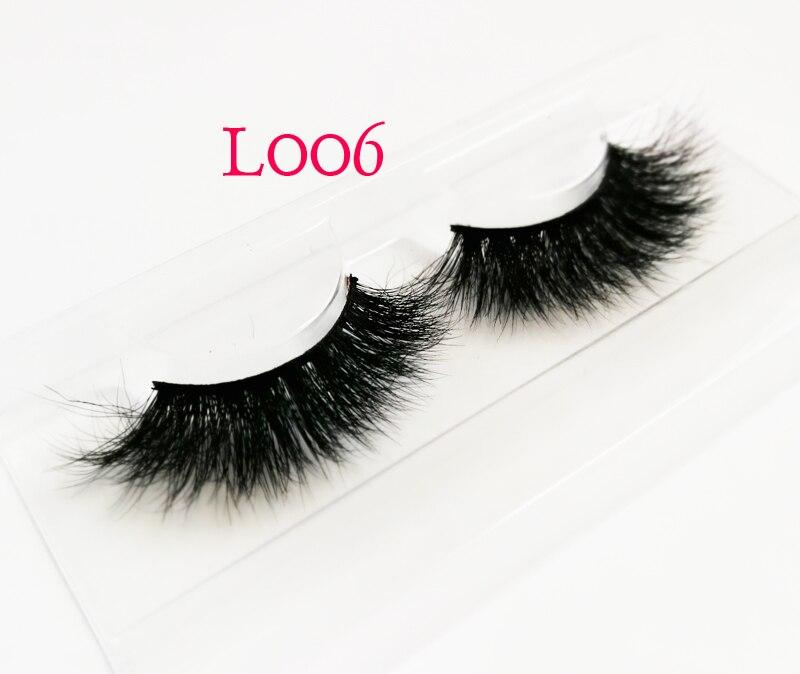 100% Real Siberian 3D Mink Full Strip False Eyelash Long Individual Eyelashes Mink Lashes Extension