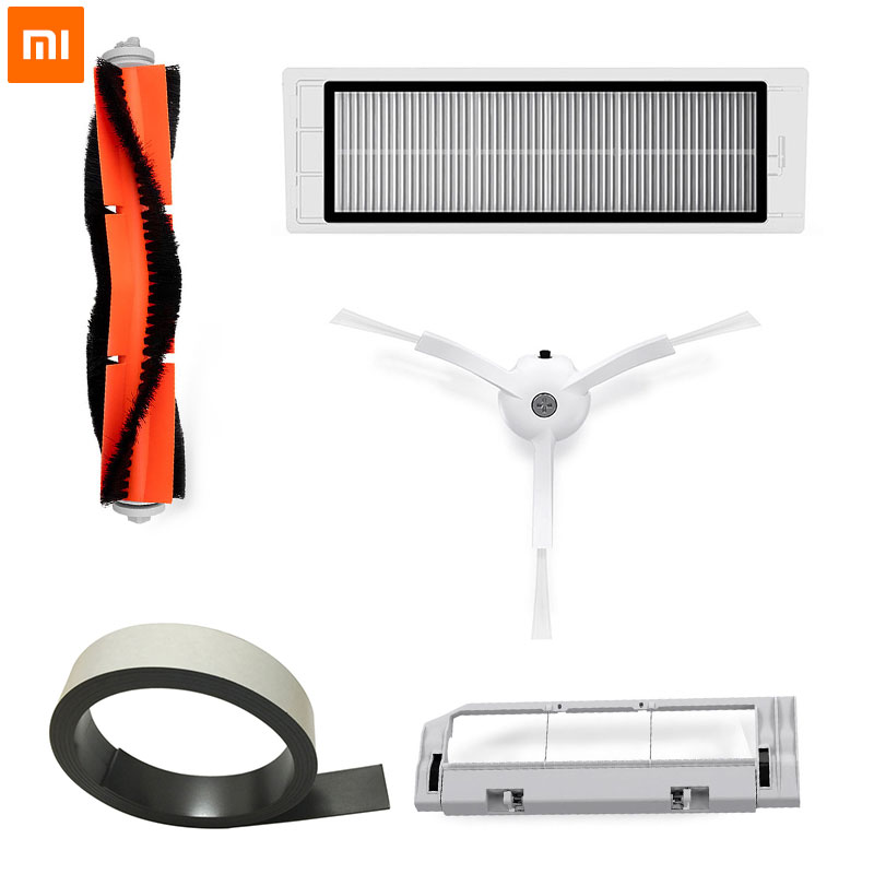 Original Xiaomi Roboter Vakuum Teil Pack von HEPA-Filter, Wichtigsten Pinsel, Reinigung Werkzeug, seite Pinsel für mijia/roborock Staubsauger