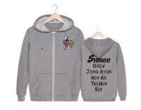 SHINee Jonghyun van Min Ho Kim QUINTO álbum CINCO soporte circundante con zip up chaqueta con forro polar