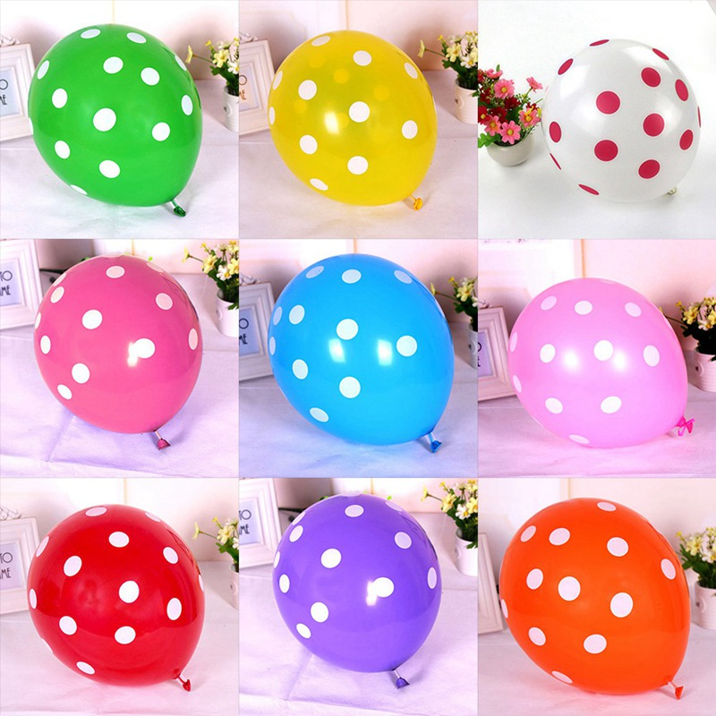 100pcslot 12 Latex Candy Colors Polka Dot Balloons for Party Wedding Room Decoration  Birthday Decoration Supplies