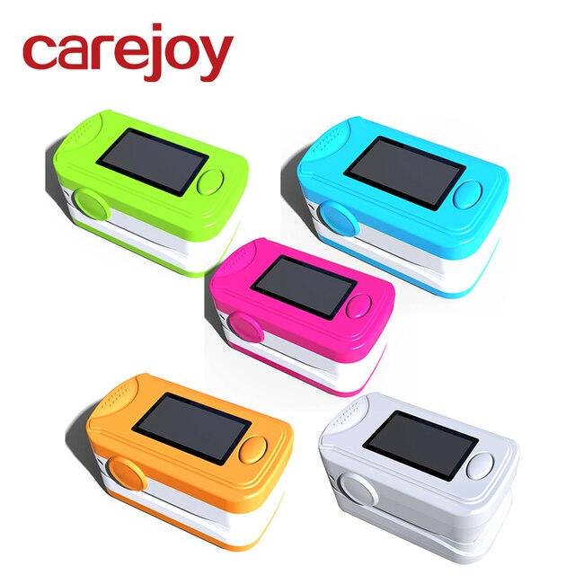 10 قطع الرعاية الصحية المنزلية الرقمية الإصبع مقياس التأكسج oled spo2 مراقب الإصبع الدم الأوكسجين (خمسة ألوان)