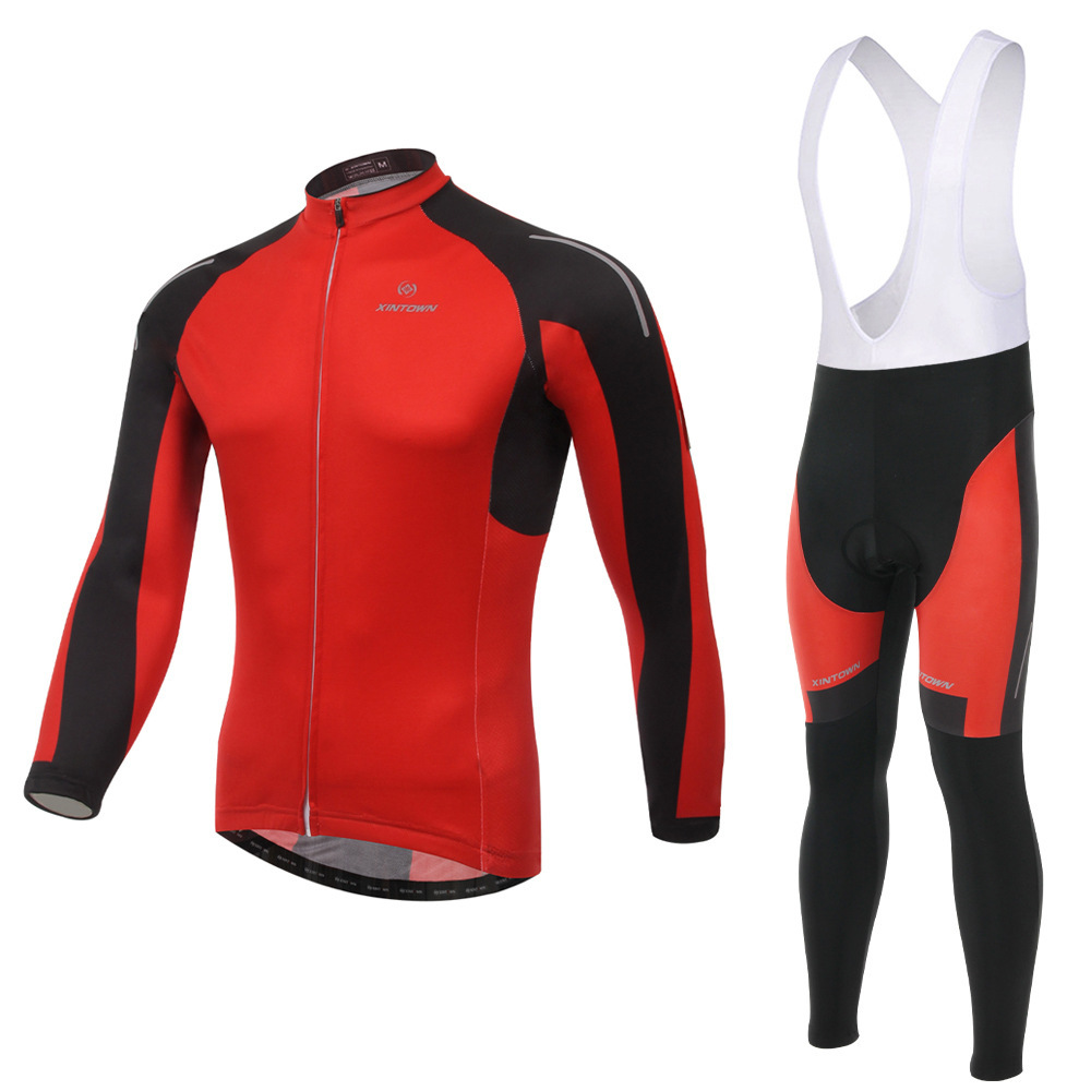 Cycling Set Long Sleeves Bib Pants GEL Pad Anti-sweat Quick Dry Breathable Bike Bicycle Riding Jersey  Suit Clothing Ciclismo west biking mtb road bike jacket 3d gel padded bicycle pants breathable quick dry cycling clothing bicycle bike jersey pants
