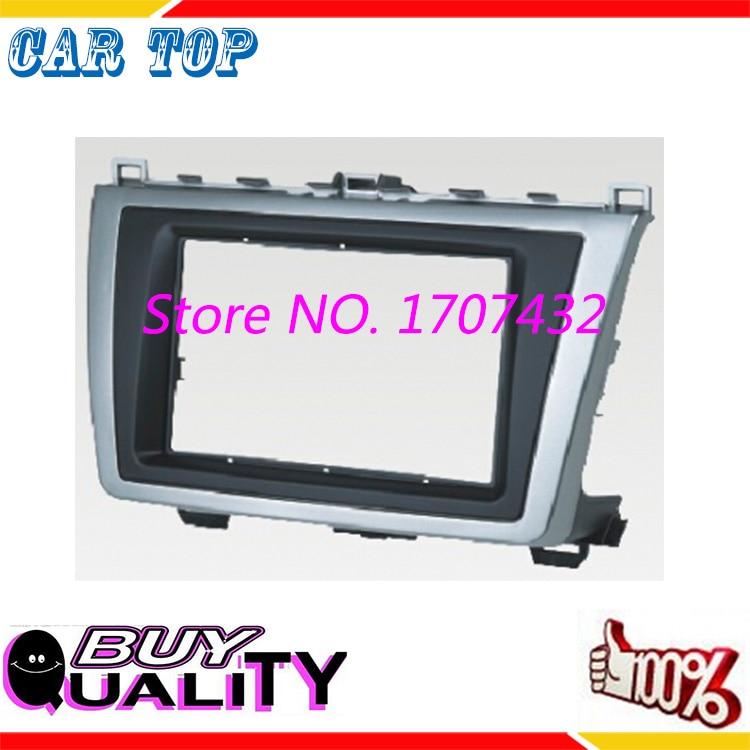 High Quality 2 DIN Car Radio Fascia for Mazda 6 Atenza 2009-2013 DVD Stereo Installation Panel Trim