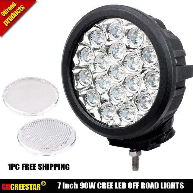 90w Led Spotlights 7 Inch New 4x4 Off Road 90w Round Led Driving