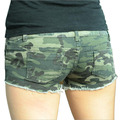 Summer Women Micro Mini Shorts Sexy Ladies Cotton Ripped Demin Camo Camouflage Shorts 2016 Short Jean Femme Bermuda Feminina