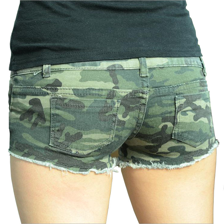 summer women micro mini shorts sexy ladies cotton ripped demin camo camouflage shorts 2017 short. Black Bedroom Furniture Sets. Home Design Ideas