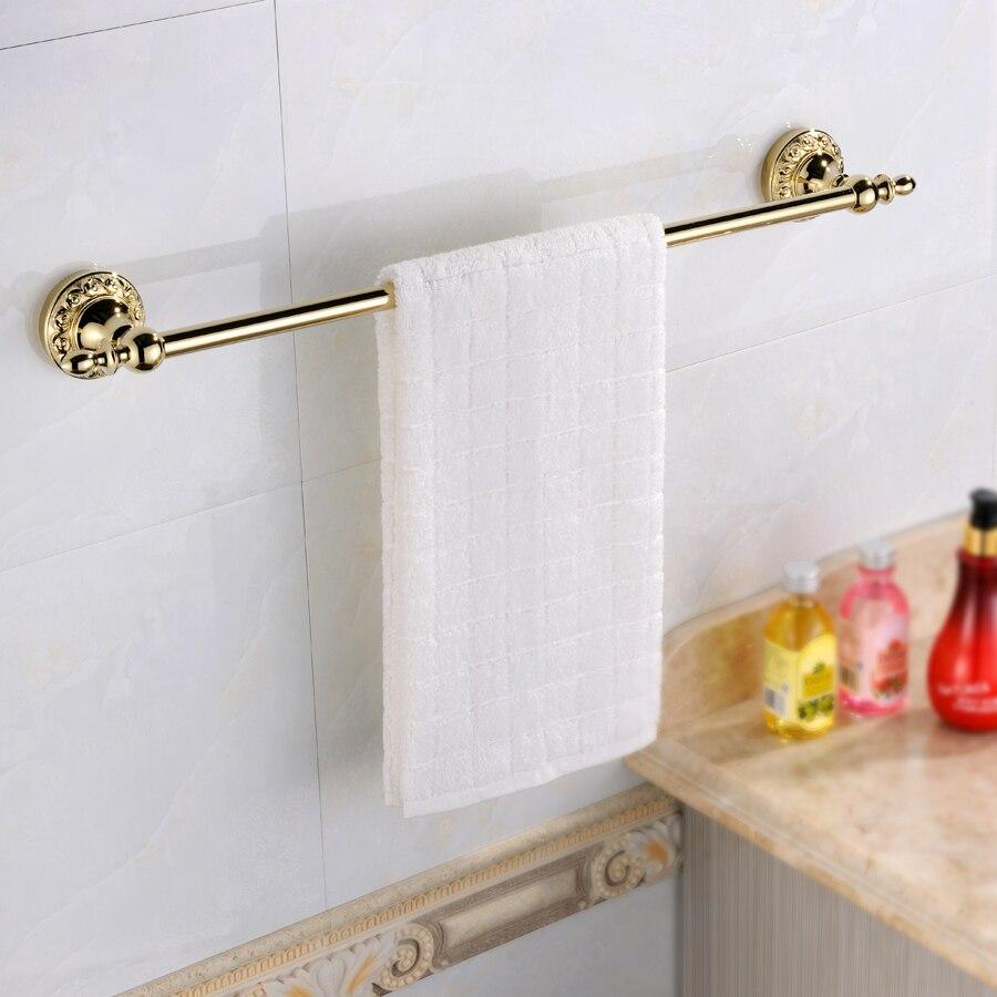 European Gold Towel Racks Wall Mounted Towel Bar Hanging Bathroom ...