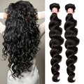 Cheap 2 Pcs Loose Wave Peruvian Virgin Hair  6A Grade Unprocessed Human Hair Weave Rosa Queen Hair Products Peruvian Loose Wave