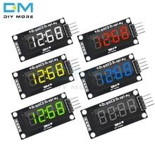 """TM1637 4-разрядный цифровой светодиодный 0,3"""" 0,36 дюймов 7 сегментов Дисплей часы трубки модуль светодиодный доска для Arduino с булавками двойной в горошек"""