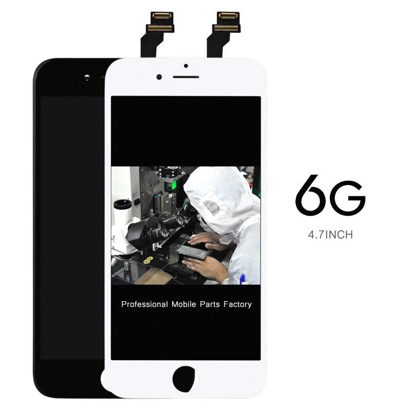 50 unids clon teléfono móvil para iphone 6 pantalla lcd + pantalla táctil digita
