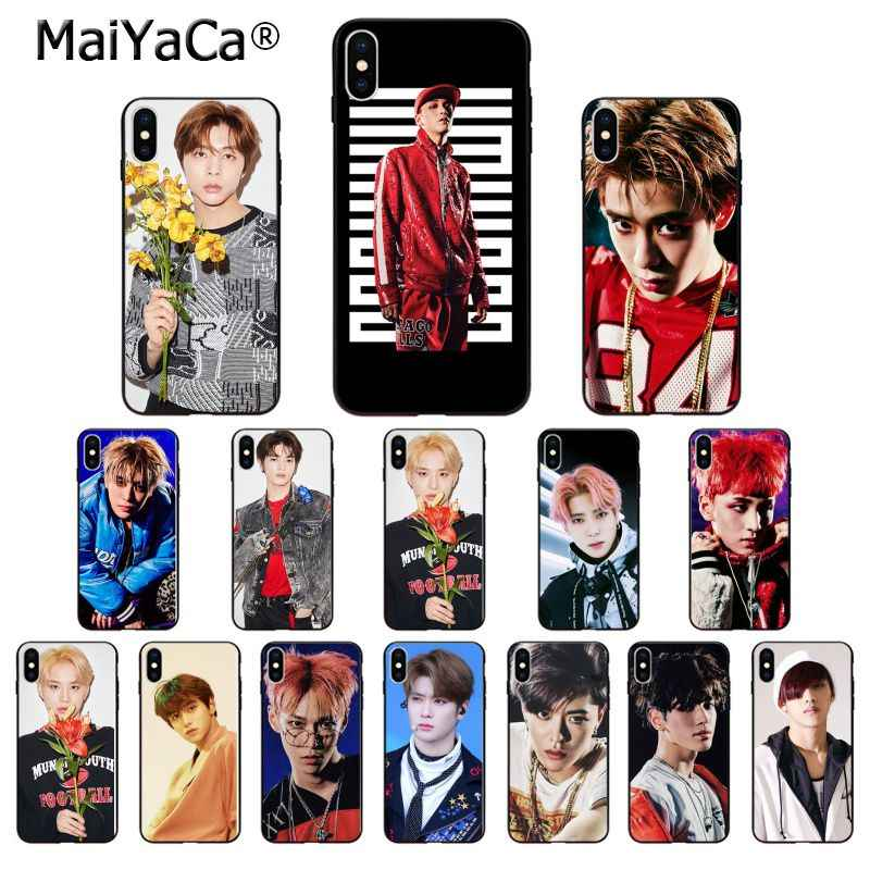 MaiYaCa NCT 127 KPOP Silicone TPU Soft black Phone Case for Apple iPhone 8 7 6 6S Plus X XS MAX 5 5S SE XR Mobile Cases