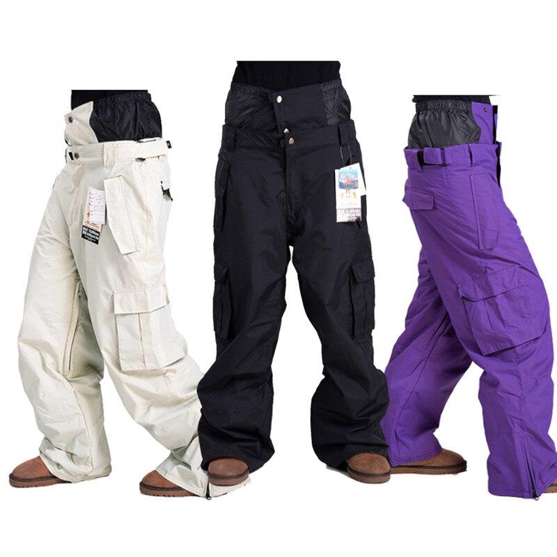 -30 hiver coréen hommes pantalons de ski couple modèles simple planche double planche coupe-vent imperméable hiver respirant pantalon de neige femmes