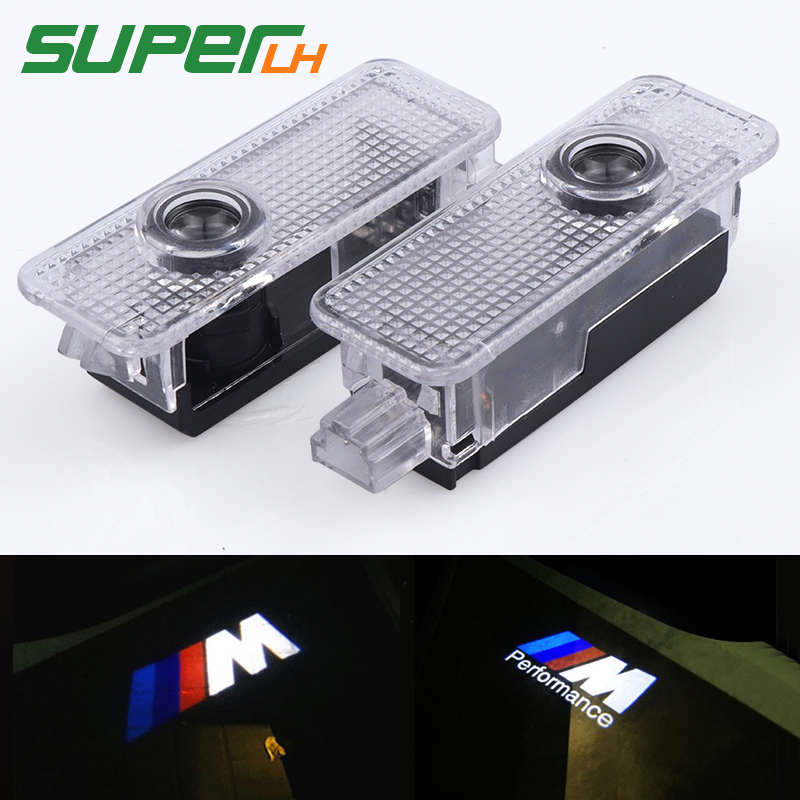 2x M Performance Motorsport Door Welcome Light Car LED Projector Laser For BMW E90 E91 E92 M3 E60 E61 F10 M5 E63 E46 Car styling