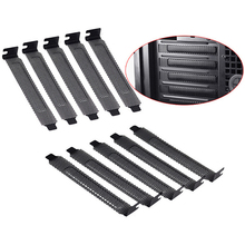 New 10Pcs/lot Black Hard Steel Dust Filter Blanking Plate PCI Slot Cover