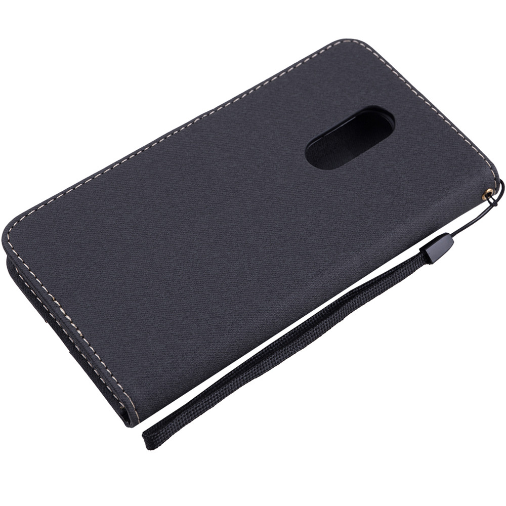 Xiaomi Redmi 5 Plus Case Redmi 5A cover Canvas Leather Flip Phone Case Xiaomi Redmi 5 Redmi Note 5A Redmi Note 4X Redmi 3S Cases With lanyard5