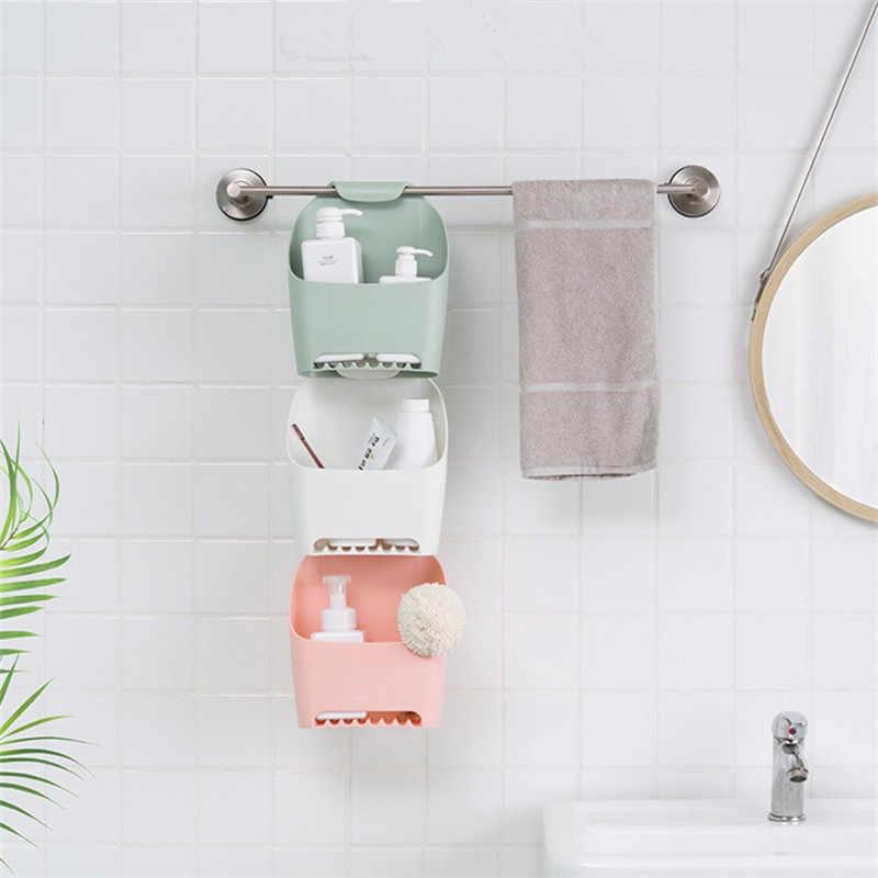 25*10*20cm łazienka Organizeds organizer na kosmetyki uchwyt spustowy 2018 nowy różowy wiszący organizer regał magazynowy akcesoria łazienkowe
