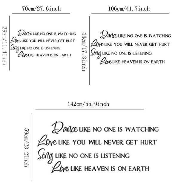 Online Shop Wallpaper Stiker Stiker Quotes Cinta Seperti Anda Tidak
