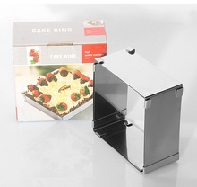 1PC 10-18CM Adjustable Cake Mold Stainless Steel Square Shape Cake Mousse Ring DIY Chocolates Bread Mold EKX 221