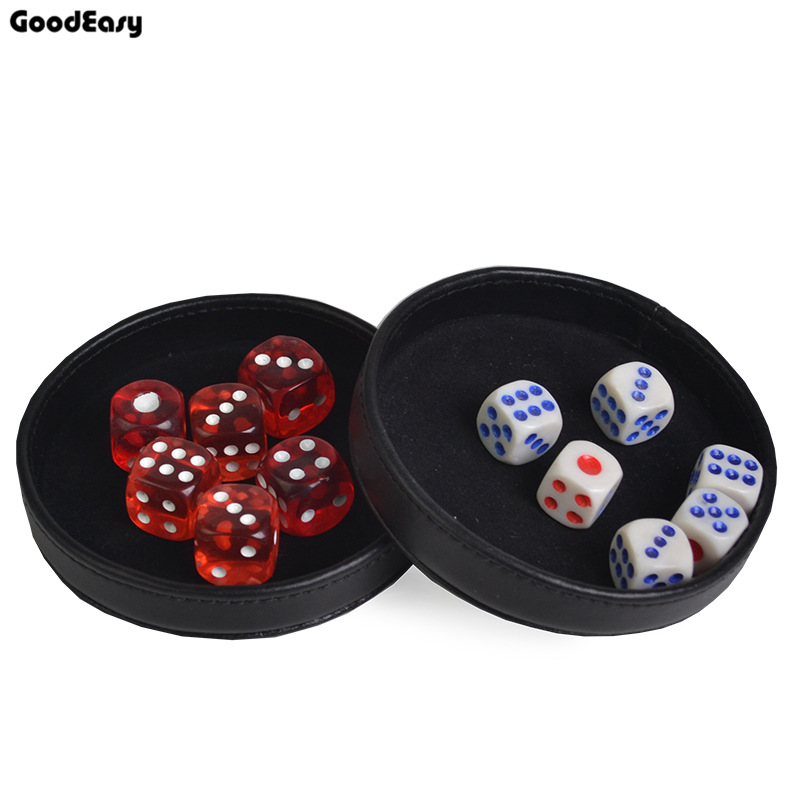 KTV Bar Black Gambling Plastic Dice Cup Tray/Cover Casino Accessory Texas Hold'em Poker Black Jack 21 poin without dice 1 pcs