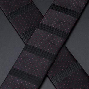 Image 5 - Mannen Bretels Dark Elastische Shirt Jarretel Stippen Zijden Strikje Manchetknoop Set 6 Clips Brace Riem voor Pak Broek Hi  Tie BD 3010