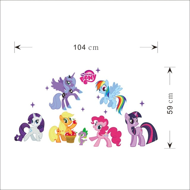 My Little Pony Bedroom Sofa Backdrop Wall Sticker Removable Home Decor Children S Room