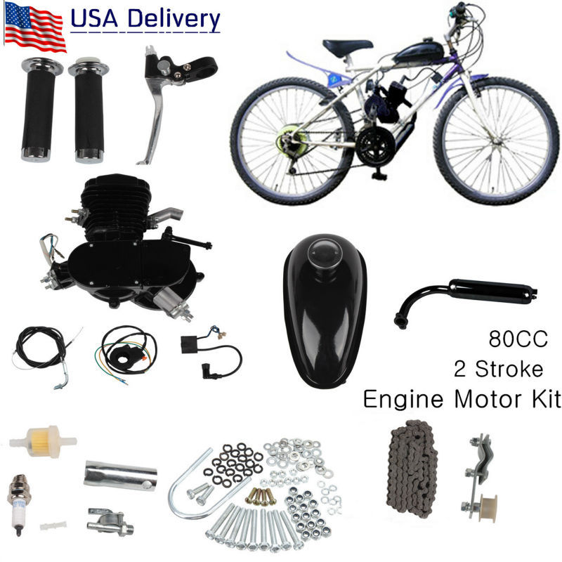 (Ship from USA) 2 Stroke Petrol Gas Bike Engine DIY Bike Bicycle Motorize Engine Motor Kit 26 or 28 универсальный коннектор gardena premium 3 4 08169 20 000 00