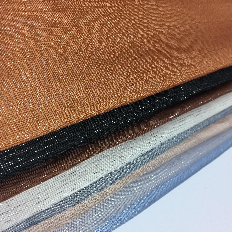 Tissu africain Tecidos Polyester imité lin tissu fil matériel pour véhicule canapé siège coussin pour flottant fenêtre tissus